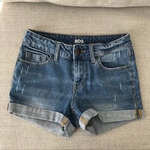UO mid-high rise denim jean shorts